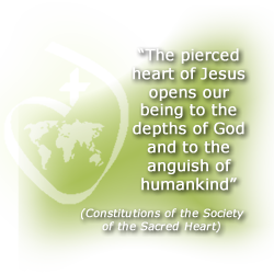 """The pierced heart of Jesus opens our being to the depths of God and to the anguish of humankind"" - Constitutions of the Society of the Sacred Heart"