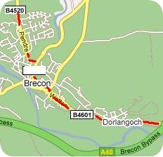 Detailed Map from A40 East