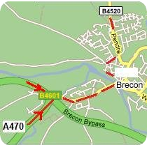 Detailed Map from A470 South & West